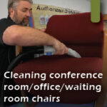 cleaning chairs