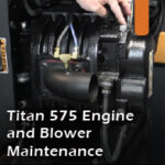 Titan 575 engine and blower