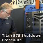 Titan 575 shutdown